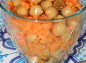 Salade carotte raisins pois chiche