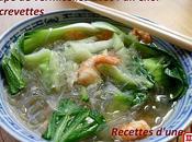 Soupe vermicelles avec Choï crevettes