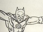 Dessin Batman 2/3: l'encrage contours.
