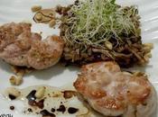 veau champignons parfum noisettes, herbes germées vinaigrette balsamique