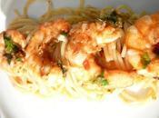 Crevettes sauce puttanesca Shrimp with