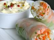 Rouleaux printemps saumon mariné, mayonnaise aneth-citron