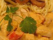 Poulet coco curry legumes