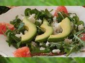 salade avocat/crabe/pamplemousse