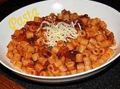Ditalini rigati funghi trifolati pomodoro, formaggio (Pâtes champignons sautés tomatés emmental)