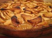 Tarte pommes, cidre glace sirop gingembre croûte amandine