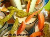Dips pois chiches brochettes fruitees