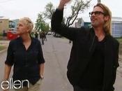 Ellen part terrain avec Brad Pitt