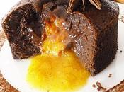 Fondant chocolat-Cointreau coeur l'orange épicée
