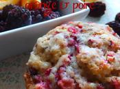 Muffins canneberges, orange poire