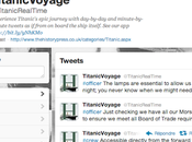Revivez naufrage Titanic Twitter!