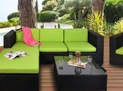 Vente privée numéro salon jardin Malaga vert