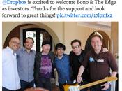 Bono Edge investissent dans Dropbox
