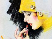 maquiller années vingt rouge pour joues lèvres