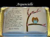 Gâteau livre poème Hibou Maurice Carême