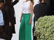 Pour contre pantalon vert Jennifer Lopez