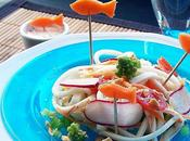 Spaghettis Jambon Coraya légumes croquants