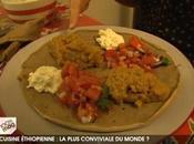 Recettes éthiopiennes injera, mesir wat, salade tomates