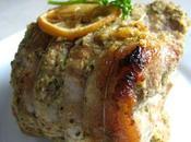 Rôti porc mariné