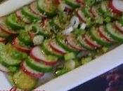 Salade concombre libanais radis