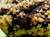 Muffins chocolatés banane streusel noix pécan Chocolated Muffin with Banana Pecan Streusel