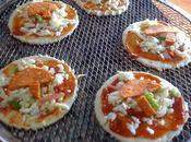 Mini pizza Péperoni mozarella