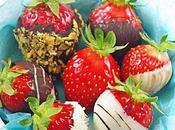 Truffes fraises chocolat
