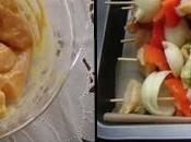 Brochettes poulet aigre douce