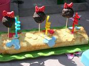 Roule cerises mickey cakes pops minnie