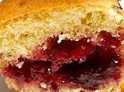 Muffins coeur confiture cerises noires