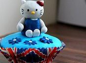 Cupcakes Hello Kitty version British, Union Jack