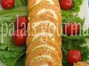 Roulé carottes fromage crème fines herbes
