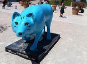 gare d'Avignon, cochon renard bleu nous accueuille...
