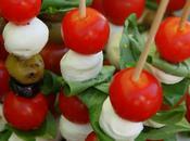 Brochettes végétariennes Tomates Mozzarella picorer
