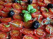 Tarte tomates cerises, basilic olives jardin
