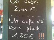 Comment inciter politesse cafetier trouvé parade irréprochable....