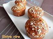 Muffins compote flocons d'avoine (sans beurre)