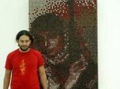 portrait Leila Khaled rouge lèvres Amer Shomali