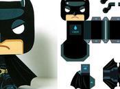 Batman mini papertoy Santome