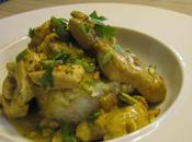 Poulet parfumé curry vert