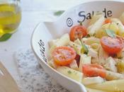 Salade pâtes, tomates mozzarella