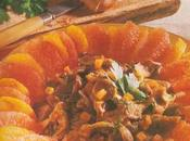 Garniture d'agrumes pleurotes croûtons frits