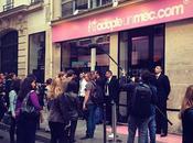 Inauguration boutique AdopteUnMec avec hommes vitrine