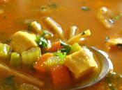 Soupe poulet nouilles carottes