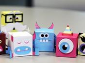 Monster Flip paper toys