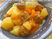 Boulettes viande hachée pommes terre sauce (Turquie