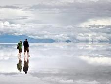 plus grand miroir monde Salar Uyuni, Bolivie Salé