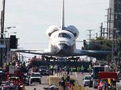 navette spatiale balade dans rues Angeles