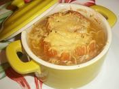 Soupe l'oignon gratinée parmesan