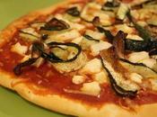 Pizza courgettes grillées, chèvre huile truffe
